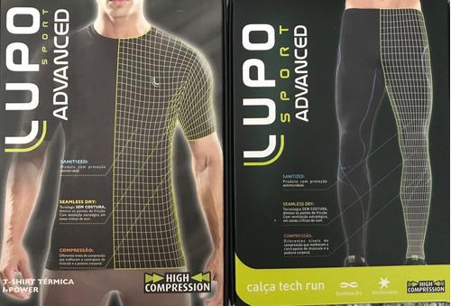 b1379eb84 Conjunto Térmico Lupo Calça Tech Run E Camiseta Manga Curta! R  219.9