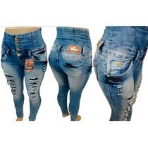 Calça Morena Rosa Desfiada Hot Pants Azul Claro