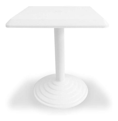Mesa Plástica Quadrada Bistro Branca Dolfin