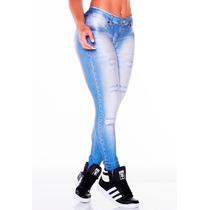 Legging Imita Jeans Fitness Academia Lipsoul Original 2413