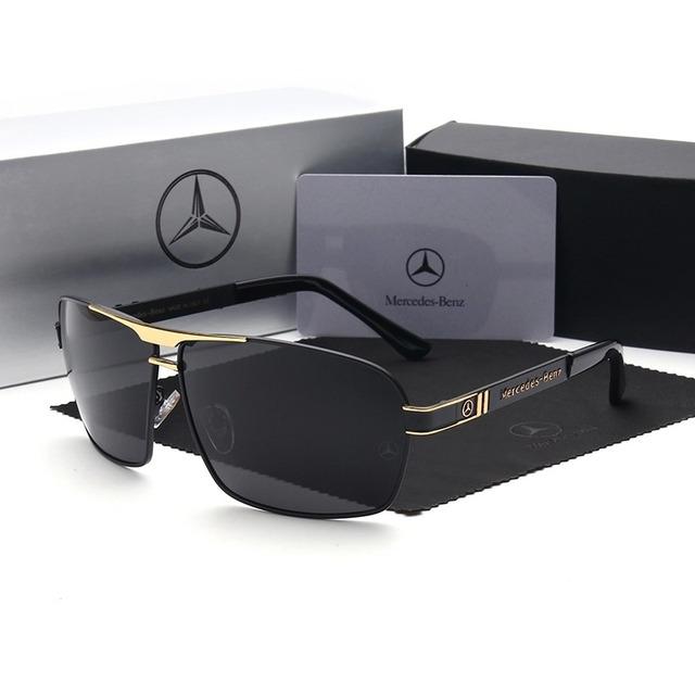 2e1ea7d1b41e9 Óculos Mercedes Benz Golden Lentes Polarizadas Mb722 65 em Congonhas ...