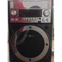 Caixa De Som Portátil Microfone S/ Fio Potente Usb Sd Fm 35w