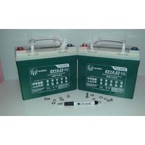 Kit 2 Bateria 12v 33ah - Ciclo Profundo - Cadeira Rodas