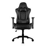 Cadeira De Escritório Thunderx3 Tgc12 Gamer Ergonômica Black Con Estofado Do Couro Sintético