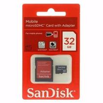 Cartão Memória Micro Sd 32gb Classe 4 Original +frete Grátis