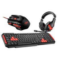 Kit Gamer Red Teclado + Mouse + Headphone