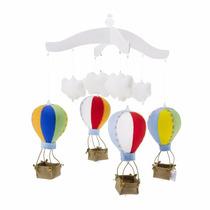 Mobile De Berços Balões Coloridos 3d Quarto Do Bebê
