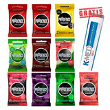 Camisinha Preservativo Prudence Cores Kit 10 Pacotes +brinde
