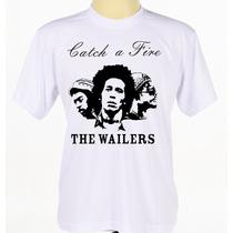 Camiseta Camisa Personalizada Banda Bob Marley & The Wailers