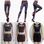 Kit Atacado 10 Vestidos Curto + 10 Calças Legging Fake Jeans