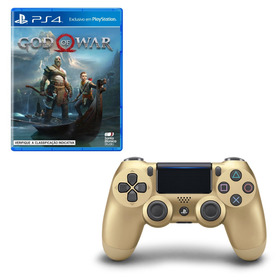 Controle Playstation Dualshock 4 Gold + God Of War Ps4