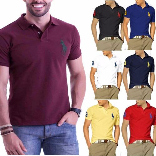 Kit 6 Camisas Camisetas Gola Polo Masculina Grandes Marcas 55c0f8ae4158c