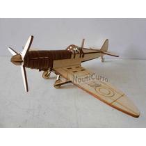 Avião Spitfire P-301 Para Montar Mdf Brinquedo Corte A Laser