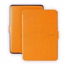 Capa Case Hibernação Laranja Kindle Paperwhite + Película