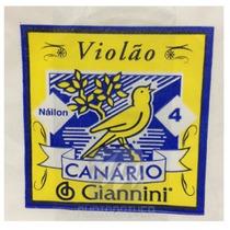 Corda Avulsa 4 Violão De Nylon Genw4 Canário Giannini 2891