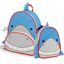 Kit Mochila Escolar E Lancheira Zoo Tubarão Skip Hop