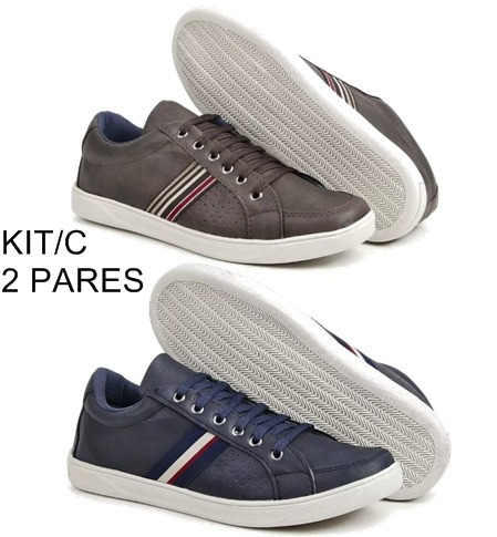 1aa4d670d Sapato Sapatênis Casual Masculino Kit C  2 Pares Mega Oferta. R  109