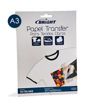 Papel Transfer A3 Para Tecidos Claros Bright - 10 Folhas