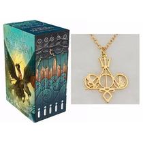Box Percy Jackson E Os Olimpianos 5 Livros + Colar Sagas