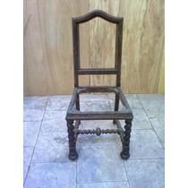 Cadeira Est. Col. Portugues Ou Manoelino Em Imbuia
