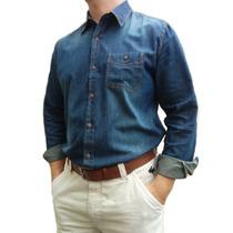 Camisa Jeans Masculina Importad Linda 3 Cores Pronta Entrega