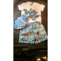 Conjunto Camiseta Sunga E Calção Menino Hering Baby Tam P