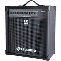 Caixa Som Lx100 Teclado Violão Microfone Guitarra Karaoke