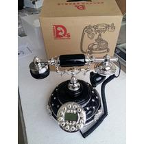 Telefone Antigo (retro) Cor Preto Ano 50/60 Novo