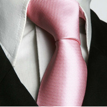 Gravata Rosa Trabalhada Sem No Tradicional