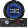 Auto Radio Mp3 Player + Par Alto Falante 6.5 Polegadas 65w