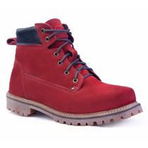 Sapato Coturno Vermelho Masculino Adventure Timber Social