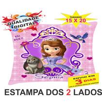 30 Almofadas Personalizadas 15x20 Lembrança Princesa Sofia