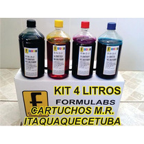4 Litros Refil De Tinta P/ Impressora Epson L210 L355 L555