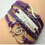 Pulseira Em Couro - One Direction Várias Cores / Bracelete
