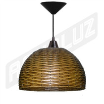 Luminária Pendente - Palha Artificial - Esférico 30cm