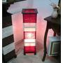 Abajur Luminária De Piso Vermelha E Cru Em Chenile