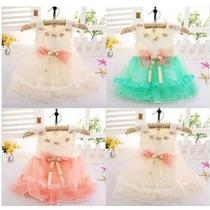 Vestido Renda Princesa Menina Infantil