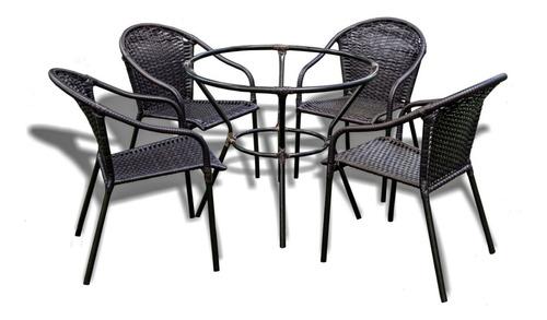 Cadeiras De Área Jardim Em Fibra Jogo 4 Cadeiras