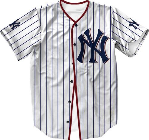 Camisa Jersey Baseball Ny Liga Americana Swag b13a644436c