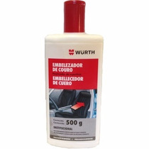Hidratante Wurth De Banco De Couro Automotivo 500g