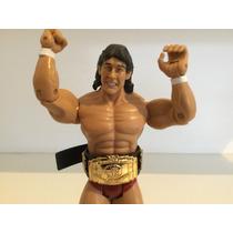 Tito Santana Com Cinturao Boneco Wwe Jakks Classic Superstar