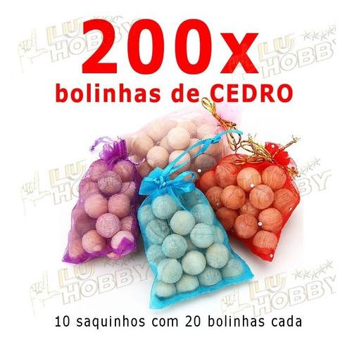 200x Cedro Solida Anti Mofo Traça Bolor 10 Sacos De 20 Cada