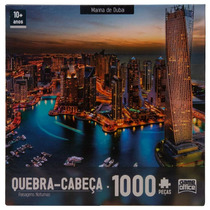 Quebra Cabeça Marina De Dubai 1000 Peças - Toyster