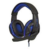 Fone De Ouvido Knup Kp-396 Preto E Azul