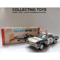 Brinquedo Antigo - Carro De Lata - Poliícia - Japan - Bandai