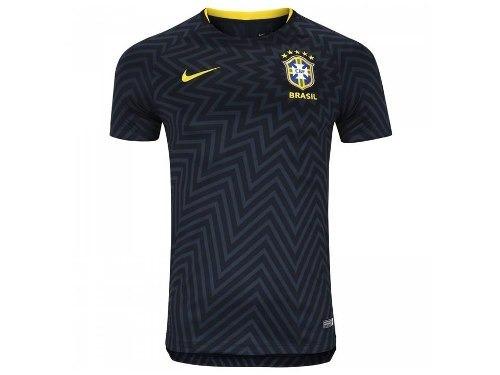 e565dfebc7 Camisa Seleção Brasileira Pré Jogo Original Preta Nova Azul