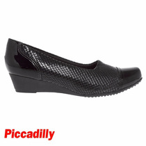 Sapato Piccadilly Anabela Maxitherapy Preto Conforto 320201