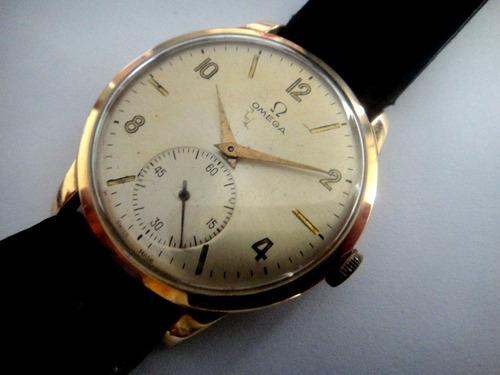 56d7d0dc83d Relógio Omega Plaque 80 Microns A Corda Fabricado Em 1944