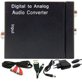 Conversor Áudio Digital Analóg. Cabos Optico E Rca Barato