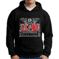 Blusa De Moleton Ac Dc Black Ice